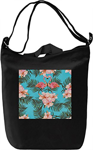 Flamingo Pattern Full Print Borsa Giornaliera Canvas Canvas Day Bag| 100% Premium Cotton Canvas| DTG Printing|