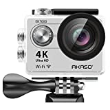 Photo : AKASO 4K Wi-Fi sports Action Camera Ultra HD Waterproof DV Camcorder 12MP 170 degree Wide Angle LCD screen/remote, Sage/Silver (EK7000SL)