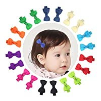 """Ruyaa 10 Pairs 2"""" Baby Girls Tiny Hair Bows Alligator Clips for Toddlers Infa..."""