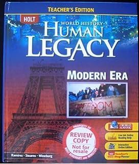Amazon world history human legacy student edition 2008 holt world history human legacy teachers edition fandeluxe Images