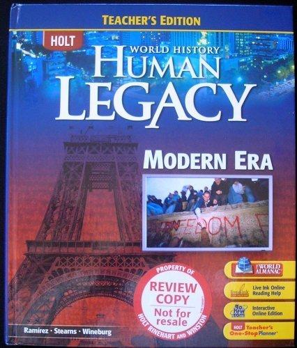 HOLT World History Human Legacy TEACHER'S EDITION