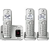 PANASONIC Link2Cell Bluetooth Cordless Phone with Answering Machine KX-TGE463S - 3 Handsets (Silver)