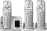 Panasonic PANASONIC Link2Cell Bluetooth Cordless Phone with Answering Machine KX-TGE463S - 3 Handsets (Silver)