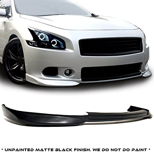 - Nissan Maxima 4dr Sedan STL Style Urethane Front Bumper Lip Chin Spoiler For 09-15 Models ONLY.