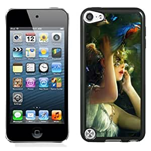 New Fashion Custom Designed Skin Case For iPod Touch 5th With Fantasy Girl With Gold Mask Phone Case Cover