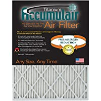 Accumulair Titanium 10x24x1 (Actual Size) High Efficiency Allergen Reduction Air Filter/Furnace Filter (6 Pack)