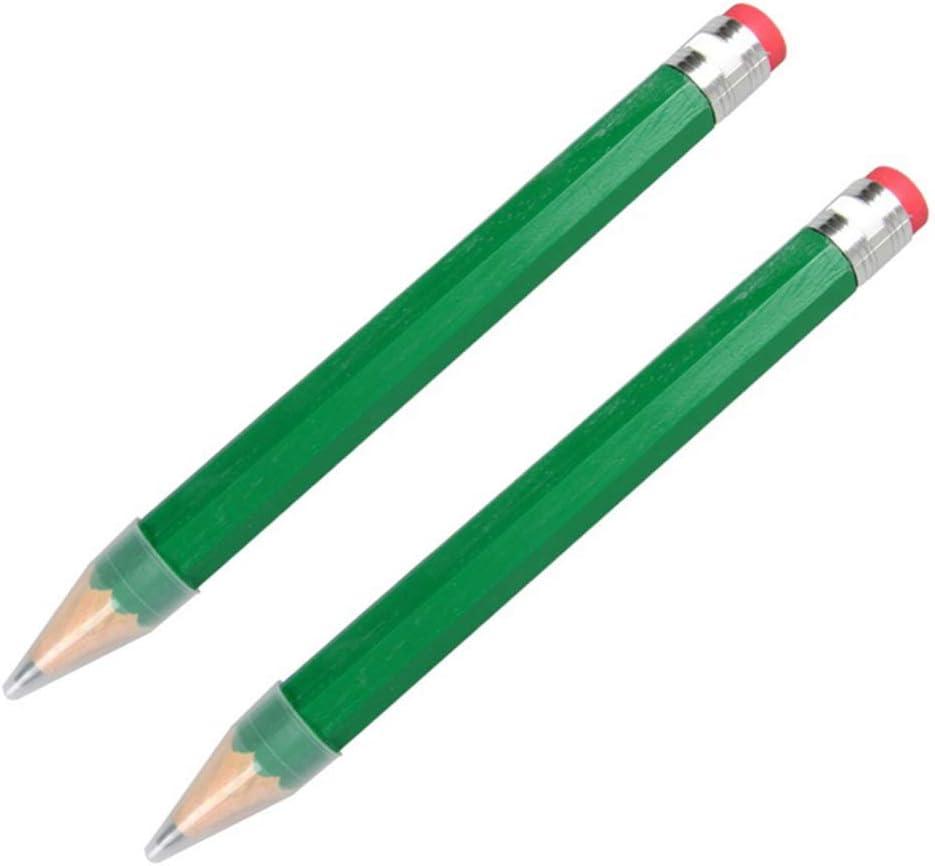 STOBOK Coffret G/éant Crayons /à Plomb Gros Crayons en Bois Dessin /Écriture Peinture Marque Crayon Vert 2 Pcs 35 Cm Papeterie Scolaire Fournitures de Bureau