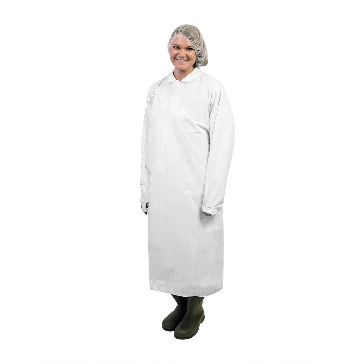 UltraSource 450064 Disposable Polyethylene Gowns, 49