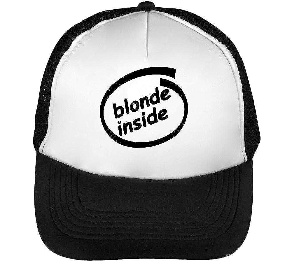 Blonde Inside out Logo Gorras Hombre Snapback Beisbol Negro Blanco ...