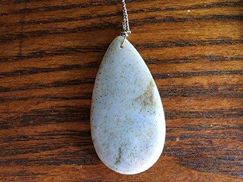 natural ocean jasper gemstone carved teardrop pendant Jasper Teardrop Gemstone Pendant