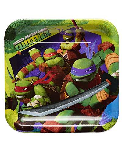 American Greetings Teenage Mutant Ninja Turtle Party Supplies, Paper Dinner Plates, 40-Count ()
