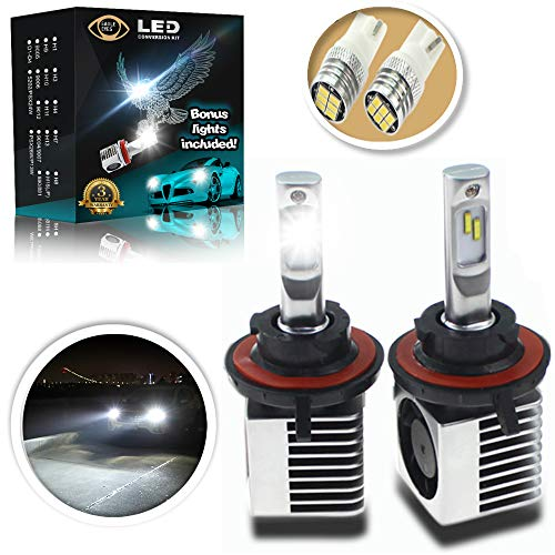 Eagle Eyes Extreme H13 LED Headlight Bulbs - New Extended Life - Bonus X2 Mini Led Bulbs - Intelligent Control, Plug and Play Conversion Kit - Adjustable Bright White High and Low Beam, Fog Light