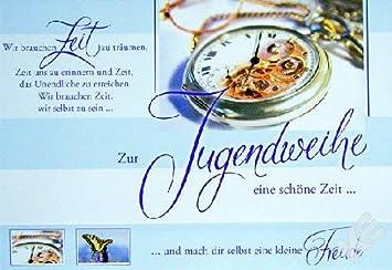 karte jugendweihe Karte Jugendweihe Uhr mit Spruch, Liefermenge = 5: Amazon.de