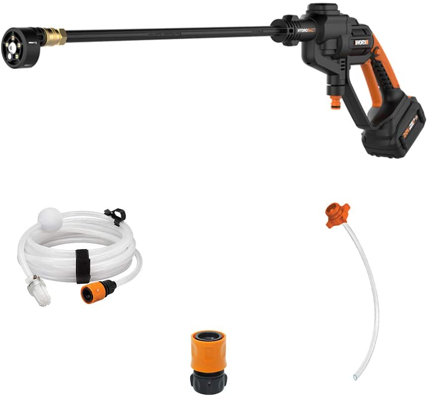 WORX WG620 20V 4.0Ah Hydroshot Cordless Portable Power Cleaner, Black and Orange