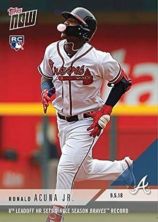 Amazoncom 2018 Topps Now Baseball 689 Ronald Acuna Jr