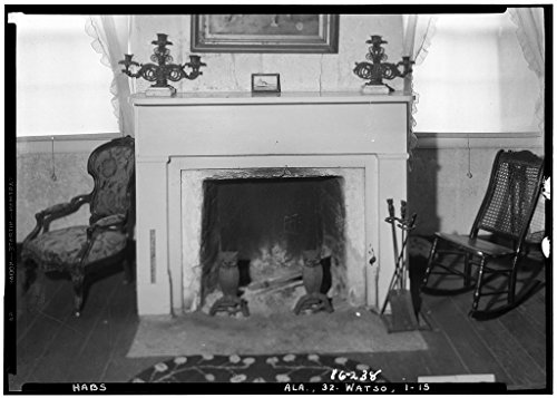 8 x 12 Photo 15. Historic American Buildings Survey Alex Bush, Photographer, December 30, 1934. Fireplace - 2D Floor Bedroom - Thornhill Plantation, County Road 19, Forkland, Greene Coun 1875 71a by Vintography