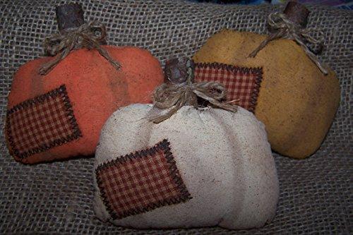 Set of 3 Country Pumpkin Bowl Fillers, Fall Pumpkin Shelf Tucks, Primitive Pumpkin Halloween, Folk Art Pumpkins, Fall Wreath/Arrangement Decoration 5
