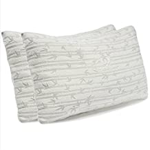 Clara Clark Rayon made from Bamboo Shredded Memory Foam Pillow, Queen (Standard) Size, Set of 2