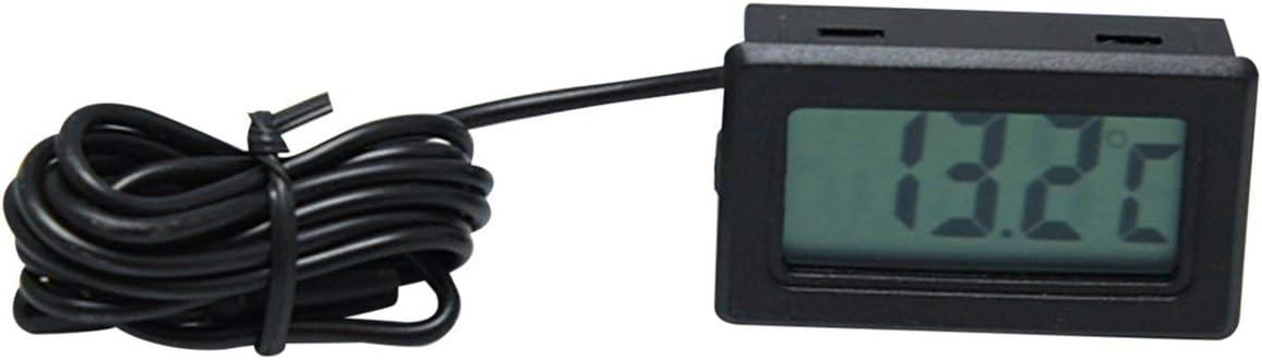 Noir YUIO/® X-10 Num/érique Thermom/ètre Int/égr/é /Électronique Testeur de Temp/érature Compteur Instruments Jauge avec sonde Aquarium R/éfrig/érateur