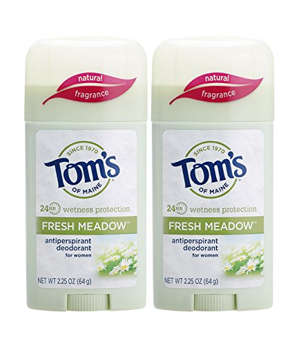 Tom's of Maine Women's Antiperspirant Deodorant Stick, Fresh Meadow, 2 Count (Natural Deodorant Tom)