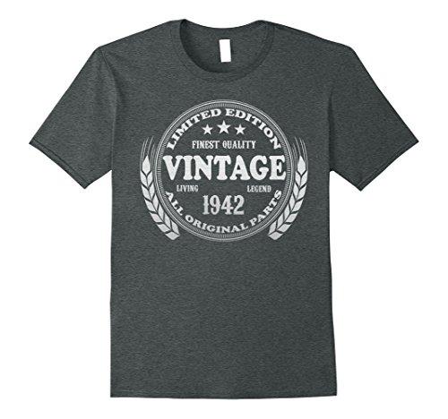 Mens Vintage 1942 - 76th Birthday Gift 76 Year Old B-day T-shirt XL Dark Heather