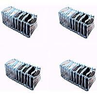 Colméia Organizadora de Gavetas Transparente com Viés Azul 11 Nichos com 4 unidades