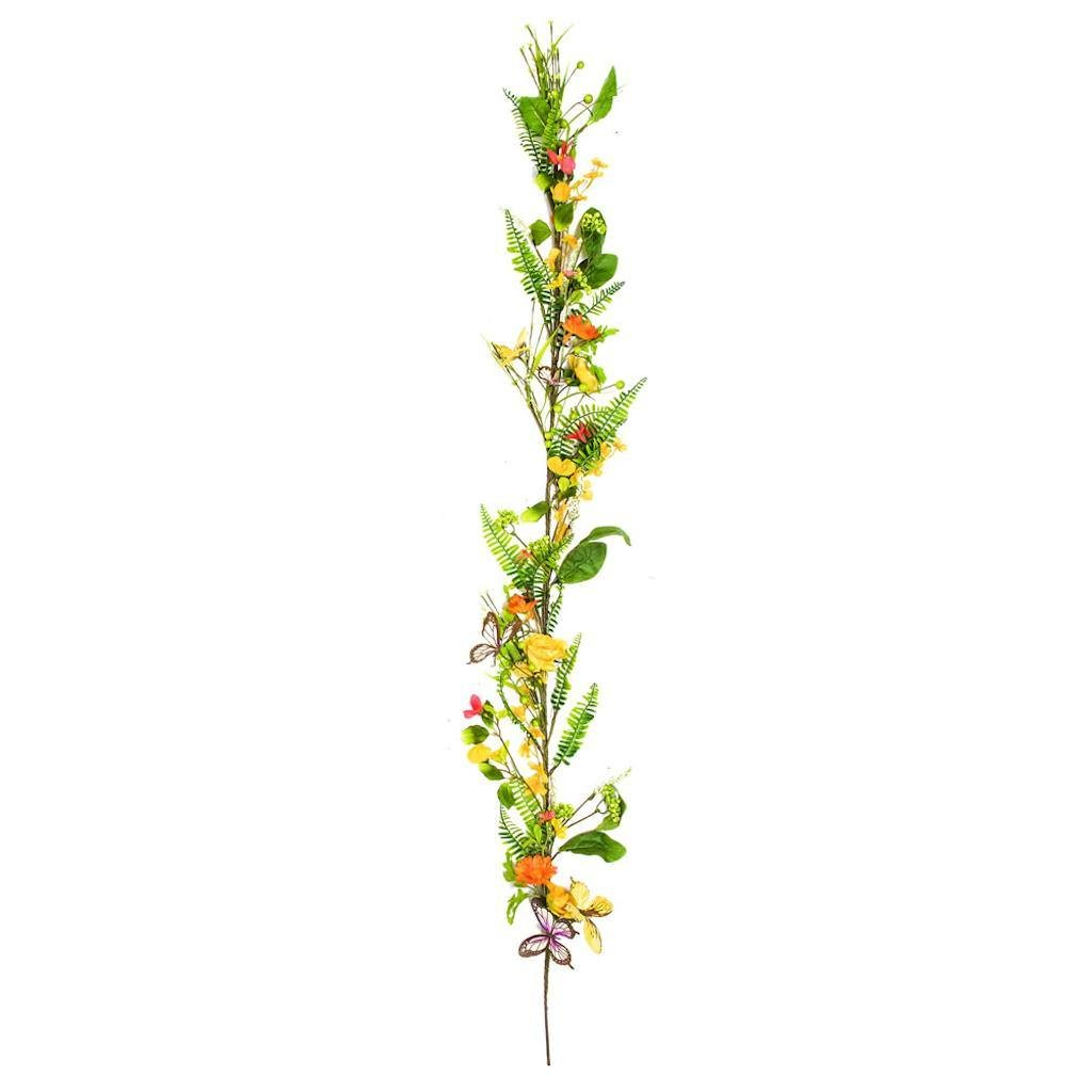 Vickerman FG180660 Yellow Mixed Floral Garland