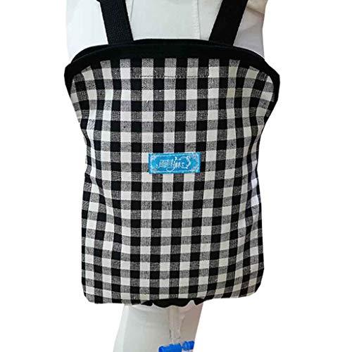 Hcwlxjy Urinary Catheter Bag Ostomy Bag Holder Urine Collector Elderly Bedding Elderly Drainage Bag for Home,Travel,Wheelchair,Bed,Black,1000ml