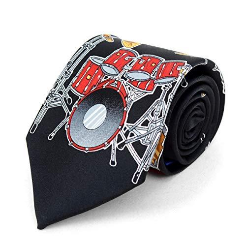 - Men's Black Drum Novelty Tie