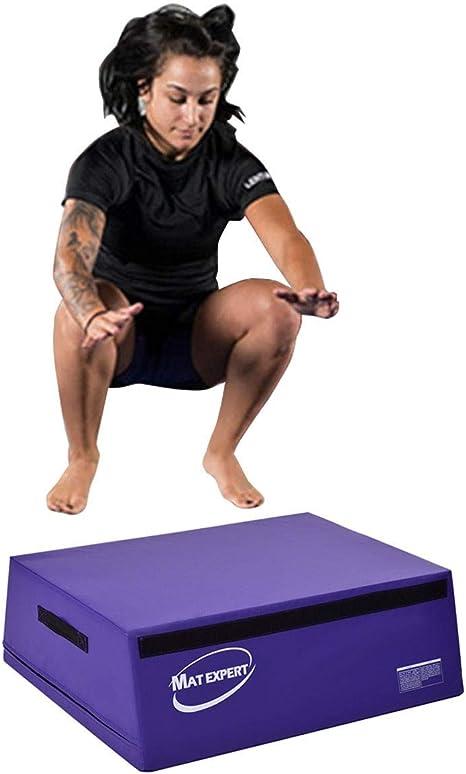 Trapezoidal Caja de espuma salto saltando caja aparato para entrenamiento Fitness Gimnasia Entrenamiento Púrpura: Amazon.es: Deportes y aire libre