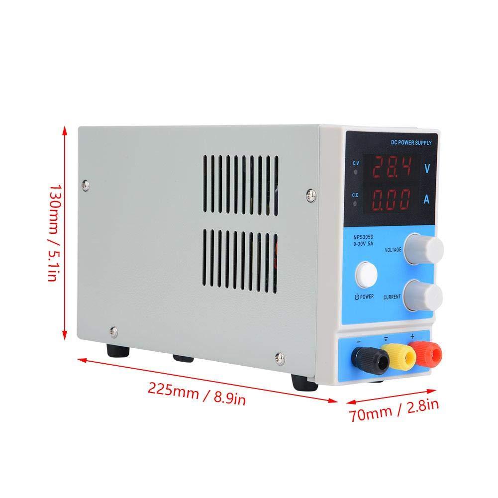 NPS305D Fuente de alimentaci/ón regulada por CC digital ajustable 30V 5A para reparaci/ón de equipos de laboratorio EU Plug Fuente de alimentaci/ón de CC
