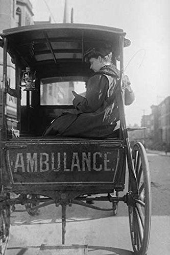 "Buyenlarge Dr. Elizabeth Bruyn Sits in The Rear of Her Horse Drawn Ambulance - 8"" X 12"" Fine Art Giclee Print from Buyenlarge"