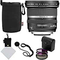 Canon EF-S 10-22mm f/3.5-4.5 USM SLR Lens, Sandisk 32GB, Polaroid Optics 77mm 3 Piece Filter Set (UV, CPL, FLD), Ritz Gear Protective Case, Polaroid Micro Fiber Cleaning Cloth & Accessory Bundle