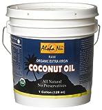 Aloha Nu Certified Organic Extra Virgin Coconut Oil, 128-Ounce Tub