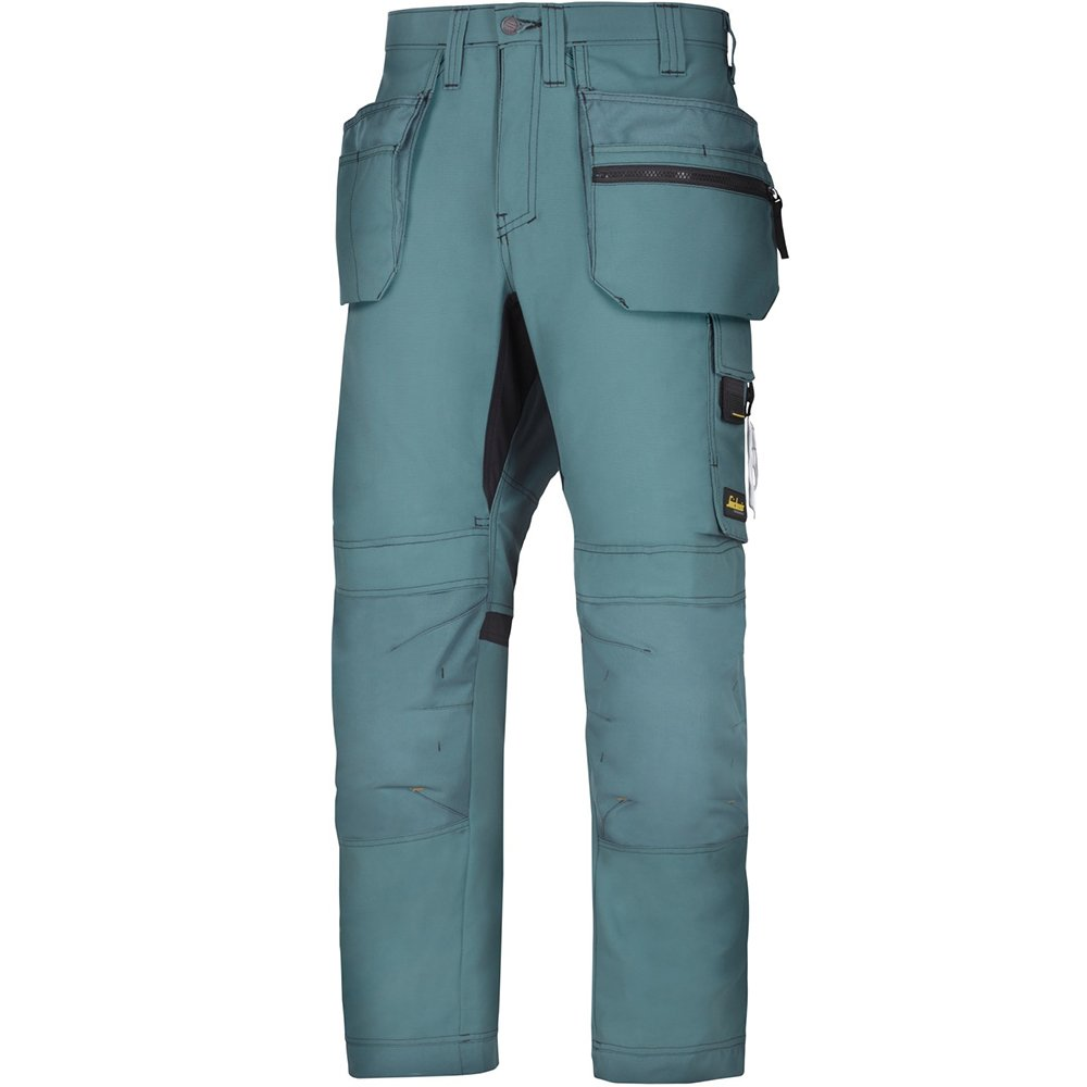 Snickers Workwear 6200 allroundwork pantaloni da lavoro + con tasche, Verde, 62005151250 Hultafors Group AB