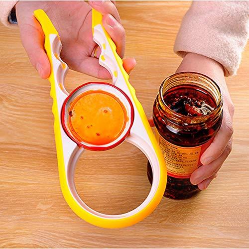 4 en 1 Multifunci/ón Abridor de tarros torcido f/ácil Antideslizante Abrelatas de lata para el hogar Ahorre esfuerzo Pr/ácticas herramientas de cocina fghfhfgjdfj