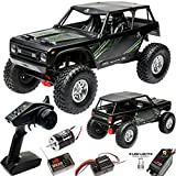Axial Wraith 1.9 1/10 Scale Electric 4WD RTR RC Rock Crawler with 2.4GHz Tx/Rx System, Black