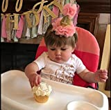 Golden Swallow 1st birthday Headband Baby First