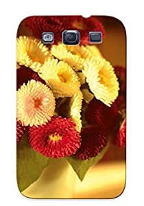 Rtwjjm-544-eabxzln Faddish Strawflower Bouquet Case Cover For Galaxy S3 With Design For Christmas Day's Gift