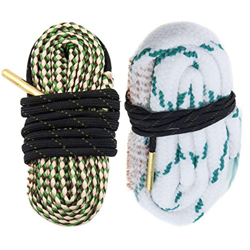 AIRSSON 2pcs Bore Cleaner Snake Rifle Pistol Shotgun Gun Cleaning Rope Kit Strap for .30 .308 Cal 7.62mm 12GA