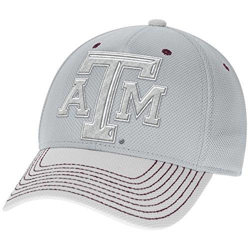 adidas NCAA Texas A&M Aggies Men's Two-Tone Structured Flex Cap, Small/Medium, (2 Tone Ncaa Cap)