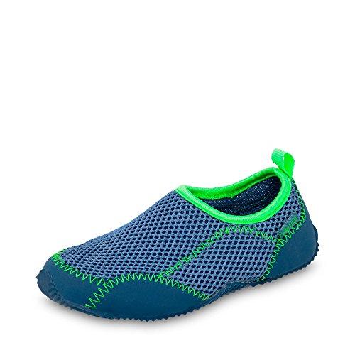 GEKA Sea, Zapatos de Playa y Piscina Unisex Niños Azul (Blau/gruen Blau/gruen)