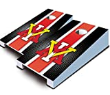 VMI KEYDETS VIRGINIA MILITARY INSTITUTE ''Striped'' TABLETOP Desktop Cornhole Boards Game Set Bean Bag Tailgate Toss Mini Miniature