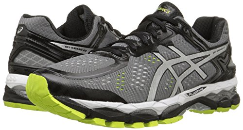 Asics Men S Gel Kayano  Running Shoe Charcoal Silver Lime