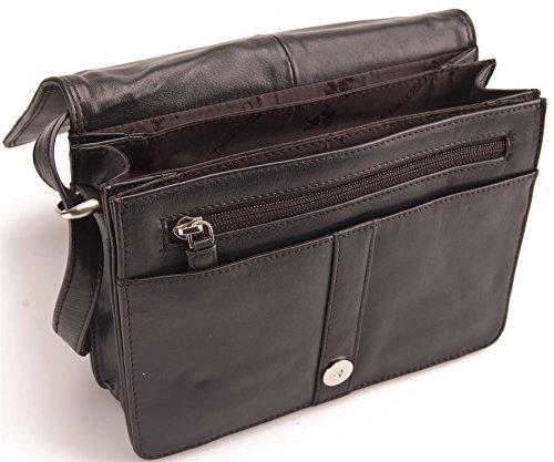 femme souple Noir Atlantic KARA bandoulière 02751 sac cuir en Petit pour véritable Visconti à YxzpaSa