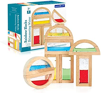 Stacking Blocks Kids Learning /& Educational Toys Guidecraft Mirror Blocks Set 10 Pcs