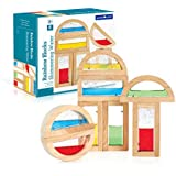Guidecraft Rainbow Blocks - Shimmering Water, Educational Toy for Kids - Stacking Blocks