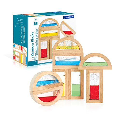 Guidecraft Rainbow Blocks - Shimmering Water: Creative Educational Toy for