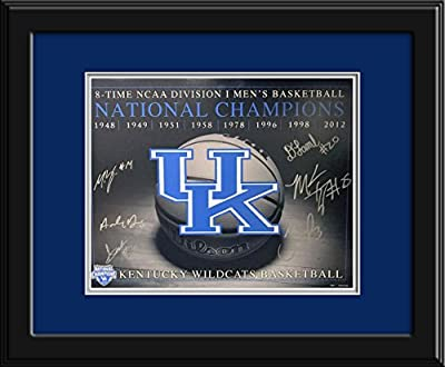 2012 NCAA Champs Starters Autographed Kentucky Wildcats 16x20 Photograph - Certified Authentic with mat and frame