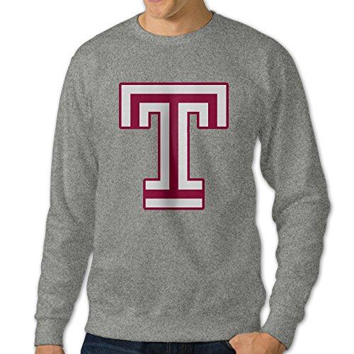 BENZ47' Men's Temple University T Logo Crewneck Sweatshirt